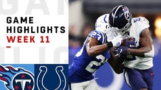 Titans vs. Colts Week 11 Highlights | NFL 2018