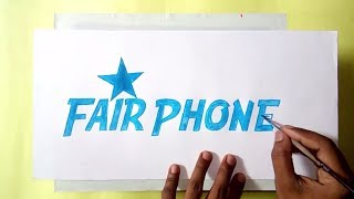 How to draw the Fairphone logo