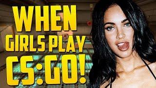 WHEN A GIRL PLAYS CS:GO - CS GO Funny Moments (Girl Gamer, Sneaky Ninja, Free Guns!)