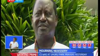 Leaders express shock at the news of Nkaissery's demise
