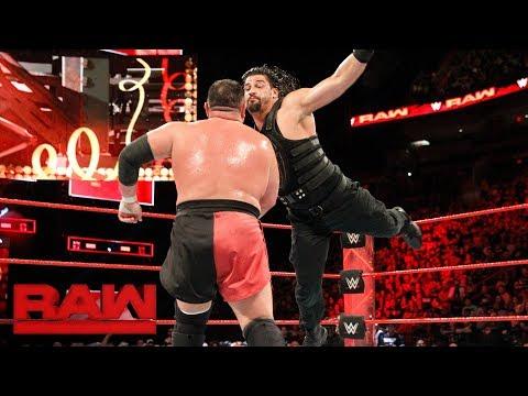 Xxx Mp4 Roman Reigns Vs Samoa Joe Intercontinental Championship Match Raw Jan 1 2018 3gp Sex