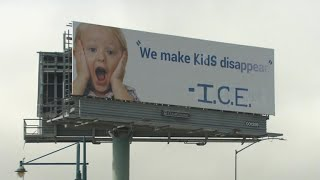Activist artists alter billboard in California to deliver anti-ICE message