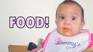 Baby's Reaction to Solid Food! - September 14, 2014 - itsJudysLife Daily Vlog