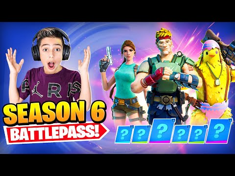 NEW SEASON 6 BATTLE PASS in FORTNITE SO EPIC Royalty Gaming