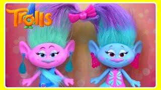 TROLLS Satin & Chenille's Style Set!  Cute Fashion TWIN Dolls!  NEW TROLLS TOYS!  Trolls Dreamworks