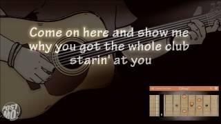 Straight Up  Down  Bruno Mars Acoustic Guitar Instrumental  Cover  Karaoke  Lyrics  Chords