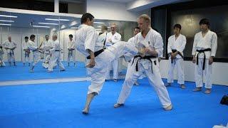 Mikio Yahara: Mae Geri. Training in KWF Honbu Dojo 2012