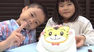 しまじろう ケーキ で こうくん 5才のお誕生日のお祝いしたよ♫ Shimajiro cake Kou-kun Birthday party
