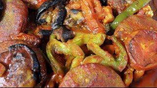 كبة برغل بالباذنجان - المطبخ العراقي - Eggplant Kibbeh
