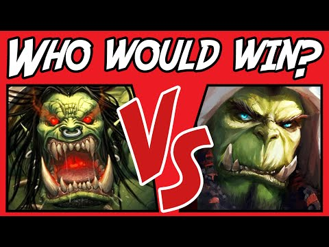 watch Grommash VS Thrall - Who Would Win? - (Warcraft Versus) #9