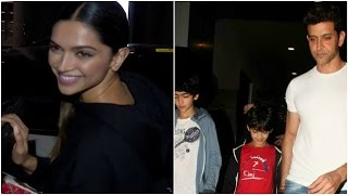 Deepika Poses At The Airport | Hrithik Goes On A Vacation With His Kids