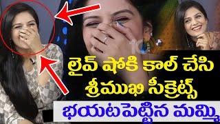 Anchor Srimukhi's Mother Reveals Srimukhi Secrets In Live Show   Srimukhi Exclusive Interview   10TV