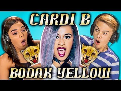 TEENS REACT TO CARDI B - BODAK YELLOW