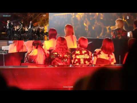161226 EXID reaction to BTS Fire (SBS Gayo Daejun)