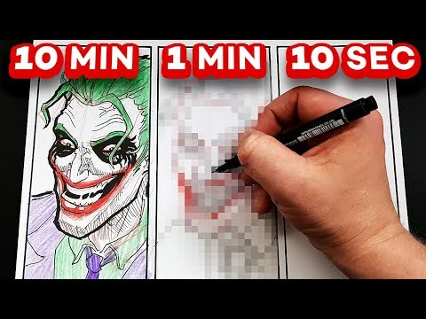 Xxx Mp4 DRAWING THE JOKER In 10 MINUTES 1 MINUTE 10 SECONDS 3gp Sex
