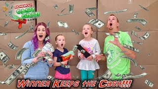 Monopoly Cash Grab with Real Money in Real Life! Winner Keeps the Cash!!!
