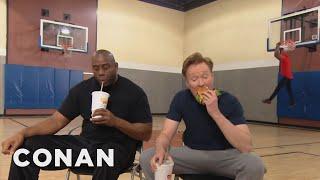 Conan Plays Horse With Magic Johnson  - CONAN on TBS