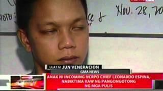 QRT: Anak ni incoming NCRPO chief Leonardo Espina, nabiktima raw ng pangongotong ng mga pulis