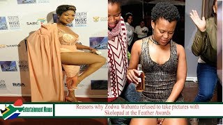 Reasons why Zodwa Wabantu refused to take pictures with Skolopad at the Feather Awards