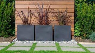 Modern Garden Design Examples - Planters As Accent