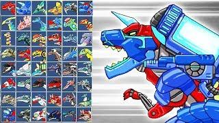 Dino Robot Tyranotops: Assembly + Battlefield | Eftsei Gaming