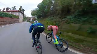 Hill Bombing Mattia Capece on MTB. Downhill, the human body is art