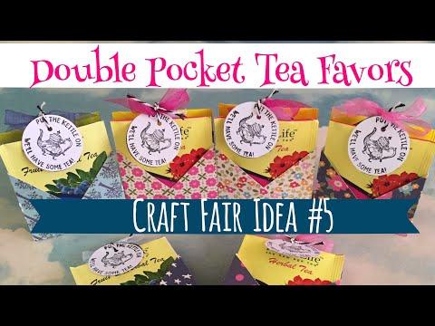 Xxx Mp4 Craft Fair Idea 5 Double Pocket Tea Favors Use Up Your 6x6 Paper Pads 2017 3gp Sex