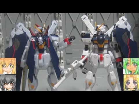 HGBFクロスボーンガンダムX1フルクロスver.GBFT BBライトニングガンダム ゆっくりプラモ動画