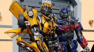 Transformers the Ride 3D meeting Decepticons & Autobots at Universal Studios Hollywood Optimus Prime