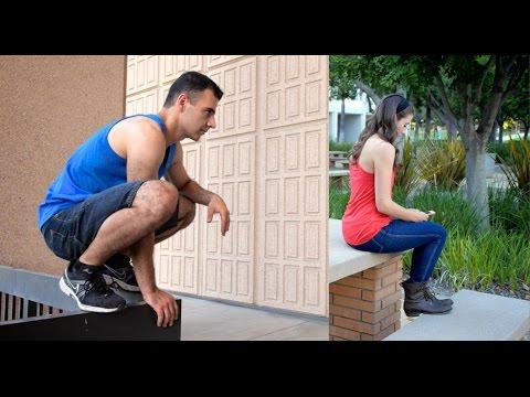 Bold Guy Picks Up Girl During Parkour (Bus Stop Girl)