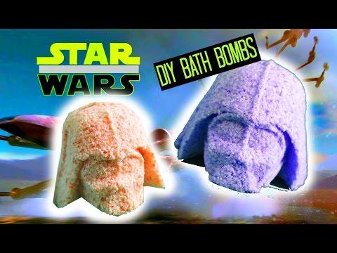 Star Wars The Force Awakens: BATH BOMBS DIY + demo