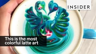This barista makes the most colorful latte art ever