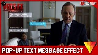 Pop-Up Text Message Hitfilm 4 Express Tutorial | Red's Fx