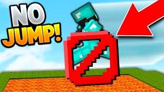 NO JUMP CHALLENGE! (Minecraft Skywars Challenge)