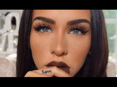 FALL MAKEUP | Simple Eyes & FAUX Freckles