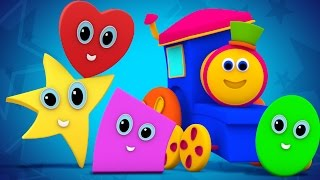 Bob The Train | shapes rolling song | original song | the shapes song | nursery rhymes | 3d rhymes