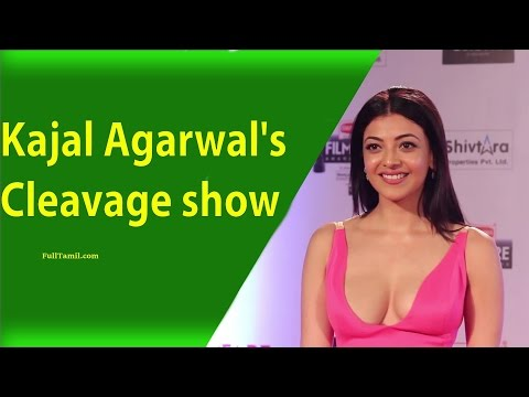 Tamil Actress Kajal Agarwal Super Hot Cleavage Show latest Pics
