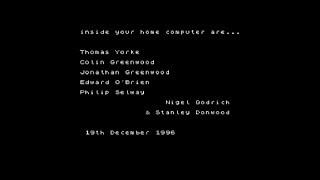 Radiohead ZX Spectrum program from OK Computer OKNOTOK 1997-2017