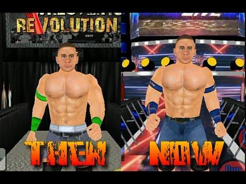 Wrestling Revolution 3D Then vs Now (Real vs Mod)