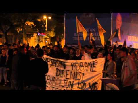 Esenlerde Gece Kobane protesto Eylemi