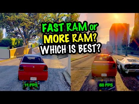MORE RAM or FASTER RAM Which is best for Gaming Gameplay Tests