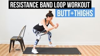 Resistance Band Loop Superset Workout for Butt & Thighs