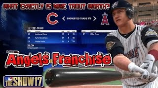 MLB The Show 17 Angels Franchise EP3 What Exactly Is Mike Trout Worth? MLB 17