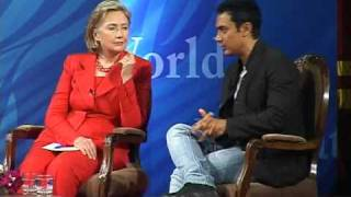 Secretary Clinton Participates in Mumbai Town Hall Meeting (1 of 4)