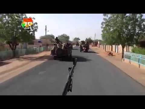 لحظة دخول قوات الجبهة الثورية السودانية لأبو كرشولا