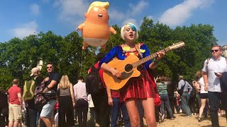 Donald Trump  UK Visit with Trump Baby Balloon Westminster London