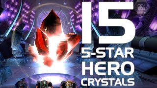 15 5-Star Hero Crystal Opening (150,000 Shards) | Marvel Contest of Champions