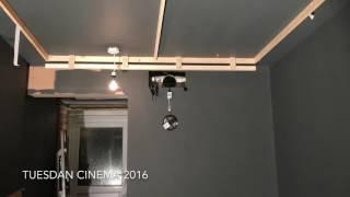 Garage To DIY Home Cinema (in 4mins)