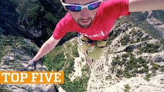 TOP FIVE: Basketball, Trials & Trick Shots | PEOPLE ARE AWESOME 2017