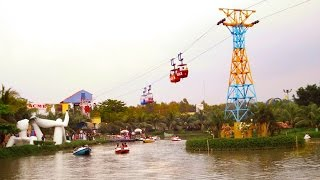 The nandan park cable car and paddle boat
